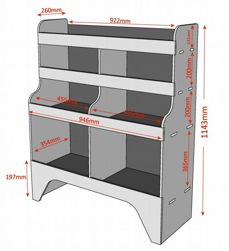 Citroen Berlingo Plywood Van Racking Shelving Unit Wr11