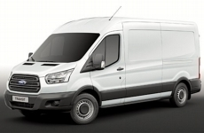 Ford Transit 2014 on MWB Med Roof (L2H2) Rear Door Ladders