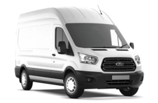 Ford Transit 2014 on MWB High Roof (L2H3) Rear Door Ladders