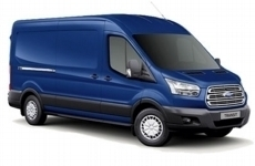 Ford Transit 2014 on LWB Med Roof (L3H2) Steel Shelving
