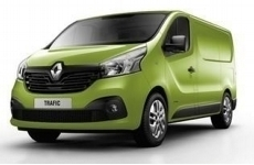 Renault New Trafic SWB low 2015 on Rear Door Ladders