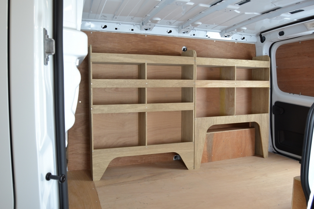 Vauxhall Vivaro Plywood Van Racking Shelving Package