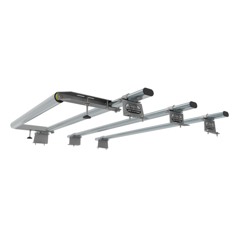 Fiat Doblo Aero Tech 3 Bar Roof Rack System With Rear