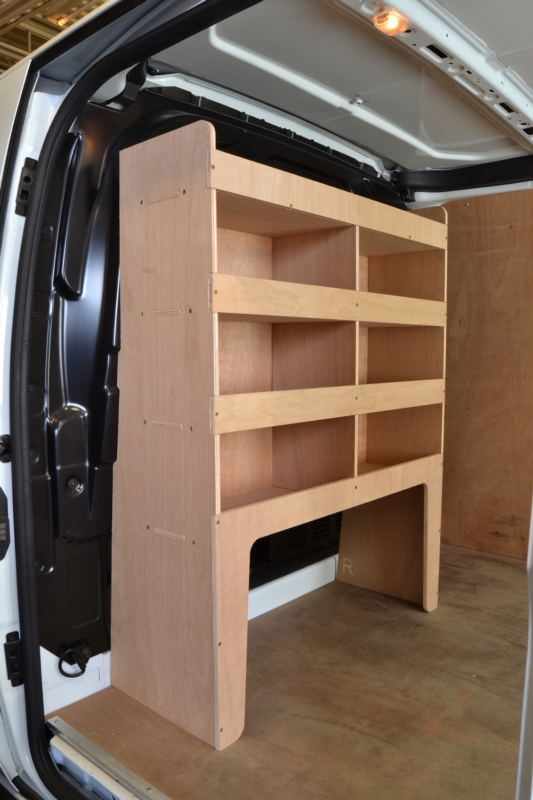 Ford Transit Custom Plywood Bulkhead Van Racking