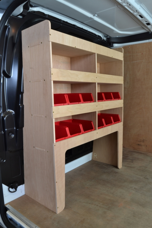 Ford Transit Custom Plywood Van Racking Shelving Unit