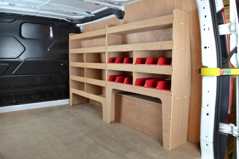 Ford Transit Custom Plywood Offside Van Racking Shelving