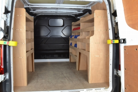 Ford Transit Custom Plywood Full Van Racking Shelving