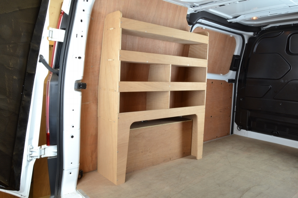 Ford Transit Custom Plywood Full Van Racking Shelving