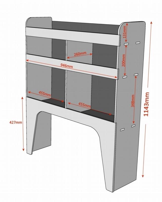 Renault Master Plywood Van Racking Shelving Unit Wrk1